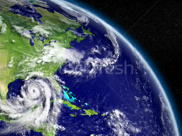 Hurrikán mexikói öböl hatalmas Florida Amerika Stock fotó © Harlekino