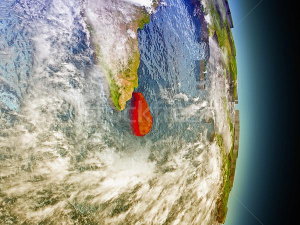 スリ·ランカ 赤 スペース モデル 軌道 3次元の図 ストックフォト © Harlekino