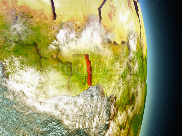Togo in red from space Stock photo © Harlekino