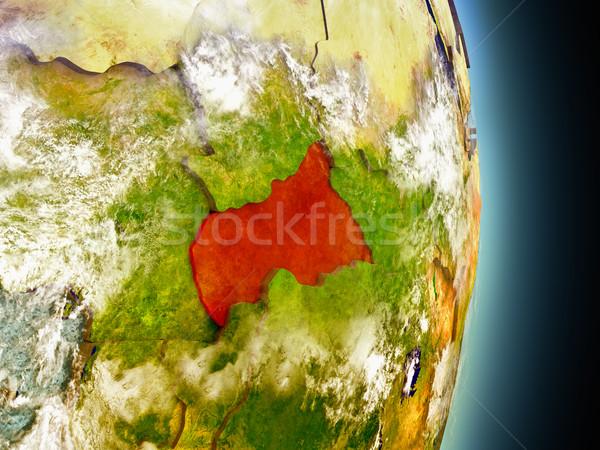 центральный Африка красный пространстве модель орбита Сток-фото © Harlekino