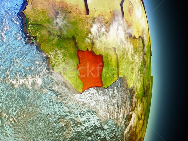 Kość słoniowa wybrzeża czerwony przestrzeni model orbita Zdjęcia stock © Harlekino