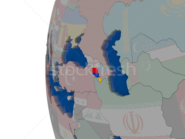 Armênia bandeira mapa ilustração 3d Ásia bandeira Foto stock © Harlekino