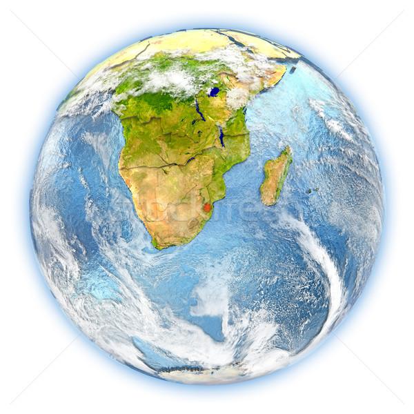 Suazi ziemi odizolowany czerwony planety Ziemi 3d ilustracji Zdjęcia stock © Harlekino