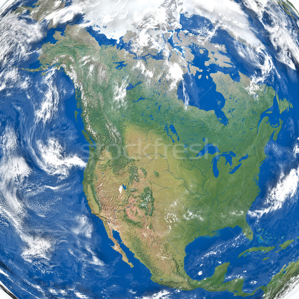 North America from space Stock photo © Harlekino