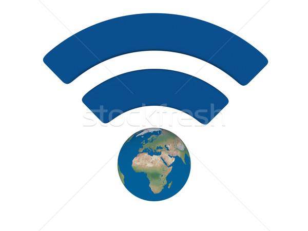 WiFi symbol Stock photo © Harlekino