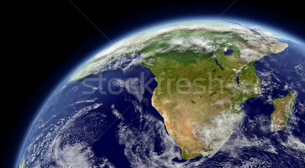South Africa ruimte atmosfeer wolken communie afbeelding Stockfoto © Harlekino