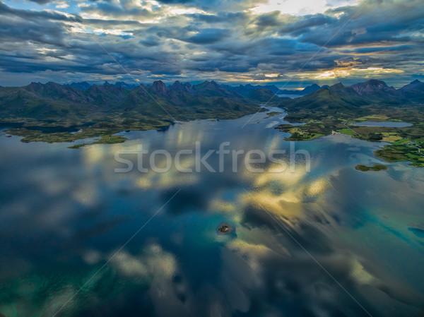 Scenic view of Vesteralen Stock photo © Harlekino