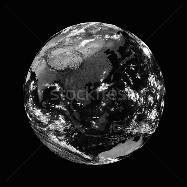 Southeast Asia on black Earth Stock photo © Harlekino