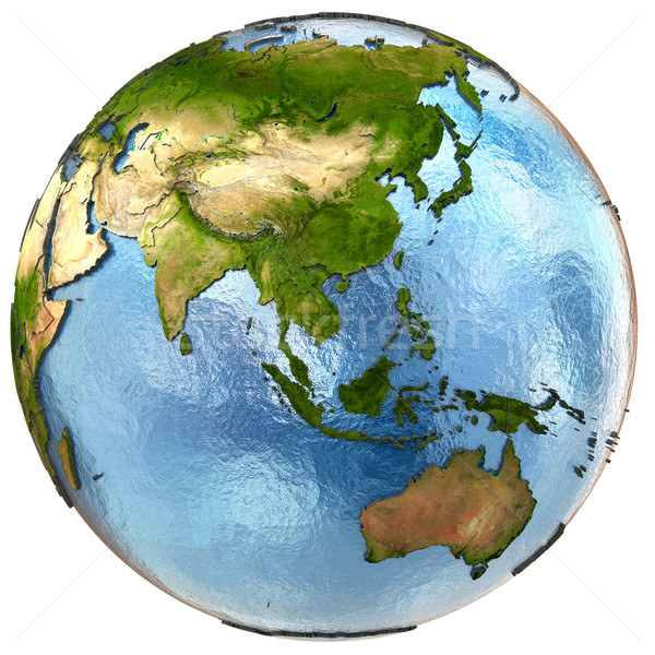 東南アジア 地球 詳しい 地球 大陸 ストックフォト © Harlekino