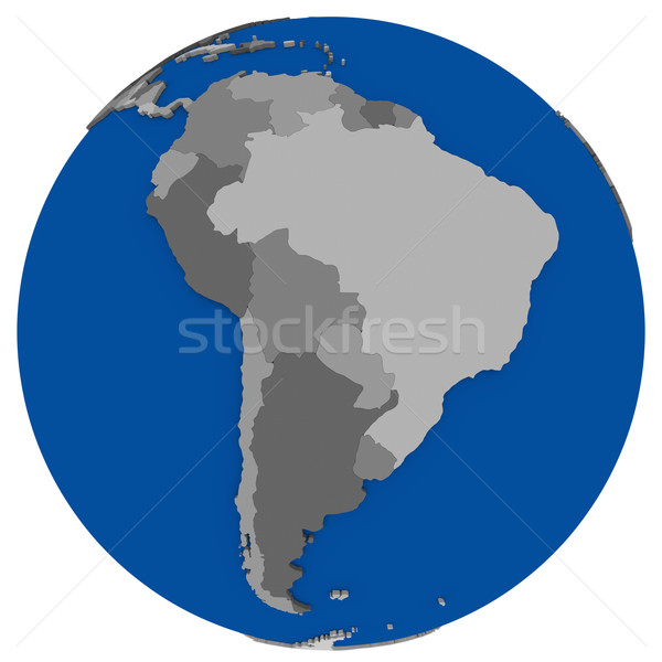 América del sur tierra político mapa mundo ilustración Foto stock © Harlekino