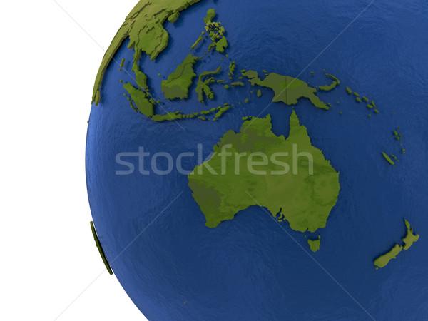 Australasian continent on Earth Stock photo © Harlekino