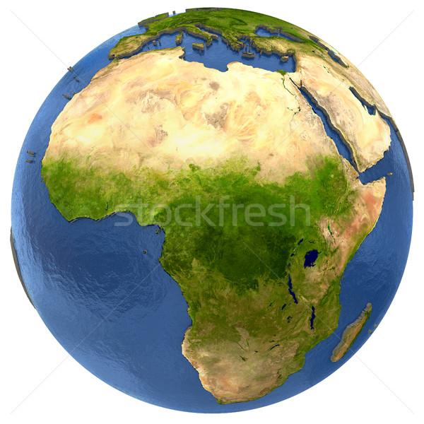 Afryki kontynent ziemi Afryki szczegółowy model Zdjęcia stock © Harlekino
