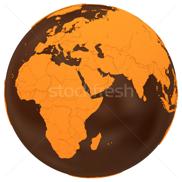 Africa on chocolate Earth Stock photo © Harlekino