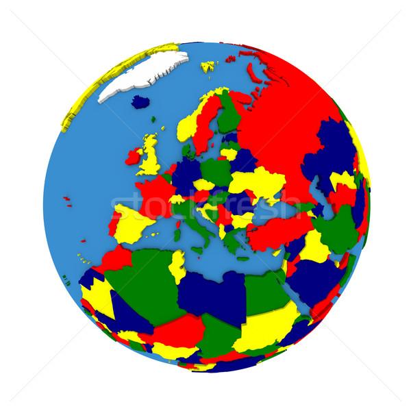 Europa político modelo tierra 3D continentes Foto stock © Harlekino