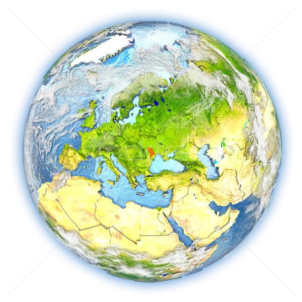 Молдова земле изолированный красный планете Земля 3d иллюстрации Сток-фото © Harlekino