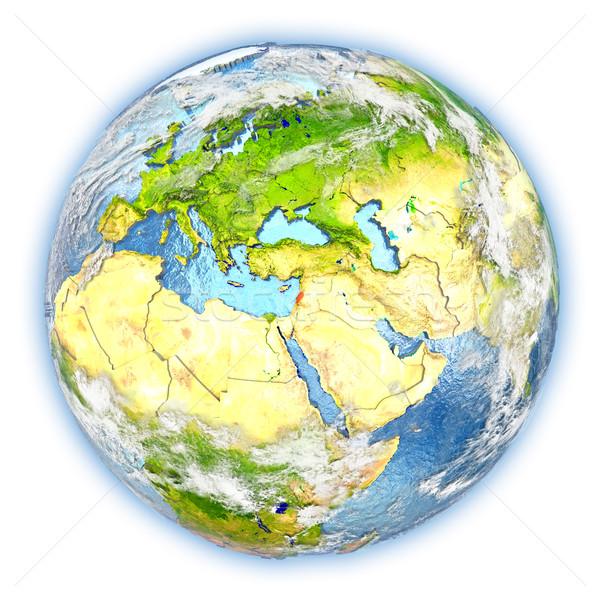Libanon Föld izolált piros Föld 3d illusztráció Stock fotó © Harlekino