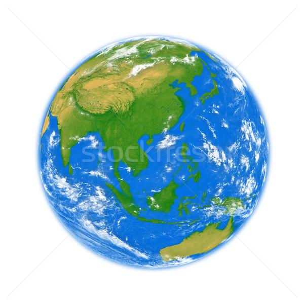 Sud-est asiatico terra pianeta terra isolato bianco elementi Foto d'archivio © Harlekino
