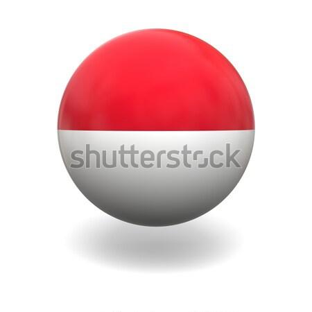 индонезийский флаг Индонезия сфере изолированный белый Сток-фото © Harlekino