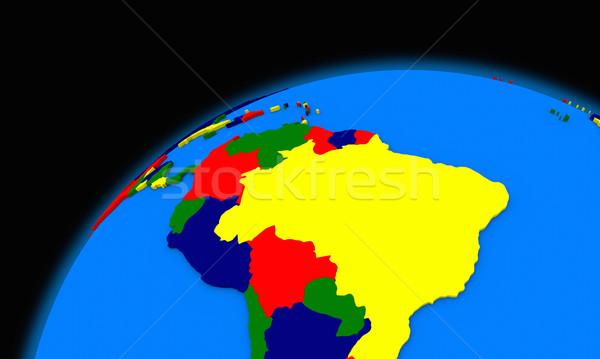Aarde politiek kaart reizen planeet Stockfoto © Harlekino