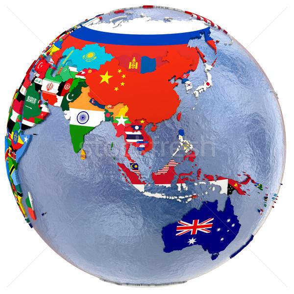 Politico Asia Australia mappa sud-est asiatico paese Foto d'archivio © Harlekino