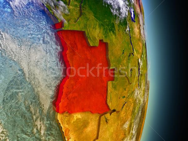 Ангола красный пространстве модель орбита 3d иллюстрации Сток-фото © Harlekino