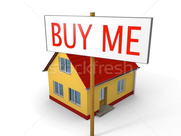 Satın alma ev küçük imzalamak satın almak Stok fotoğraf © Harlekino