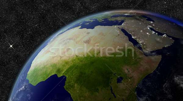 North Africa from space Stock photo © Harlekino