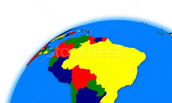 América del sur mundo político mapa planeta Brasil Foto stock © Harlekino