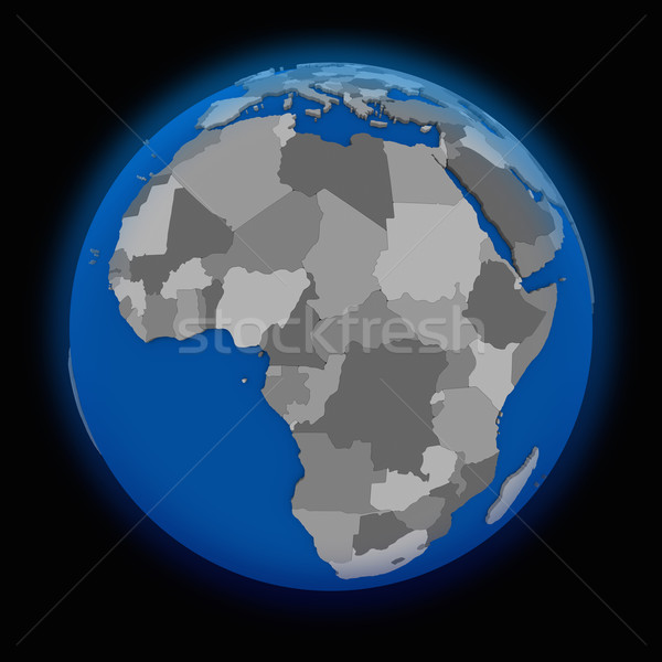 Africa on political Earth Stock photo © Harlekino