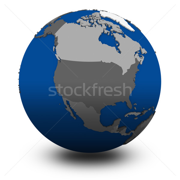 north America on political globe illustration Stock photo © Harlekino