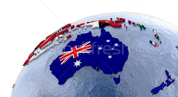 Político Australia mapa país modelo mundo Foto stock © Harlekino