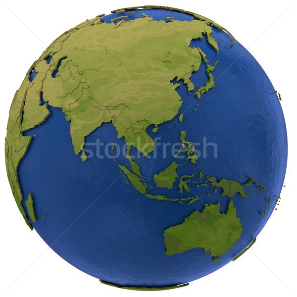 Asian continent on Earth Stock photo © Harlekino