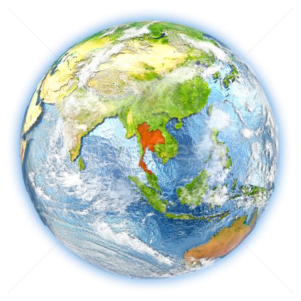 Таиланд земле изолированный красный планете Земля 3d иллюстрации Сток-фото © Harlekino