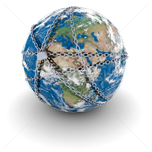Earth locked in chains Stock photo © Harlekino