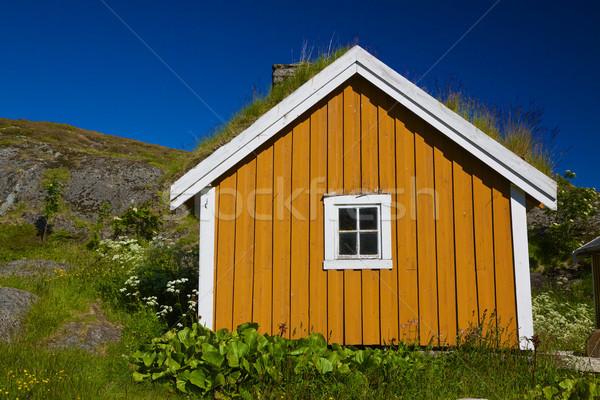 Norwegian shed Stock photo © Harlekino