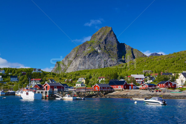Reine on Lofoten Stock photo © Harlekino
