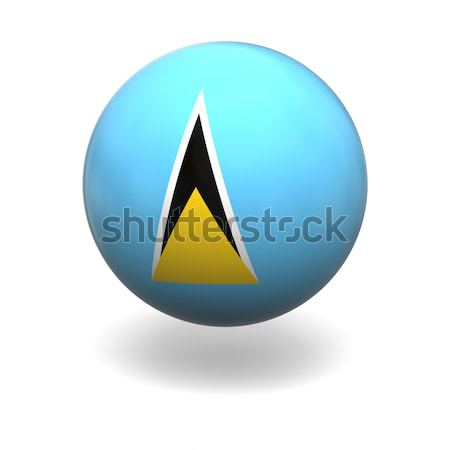 Saint Lucia flag Stock photo © Harlekino