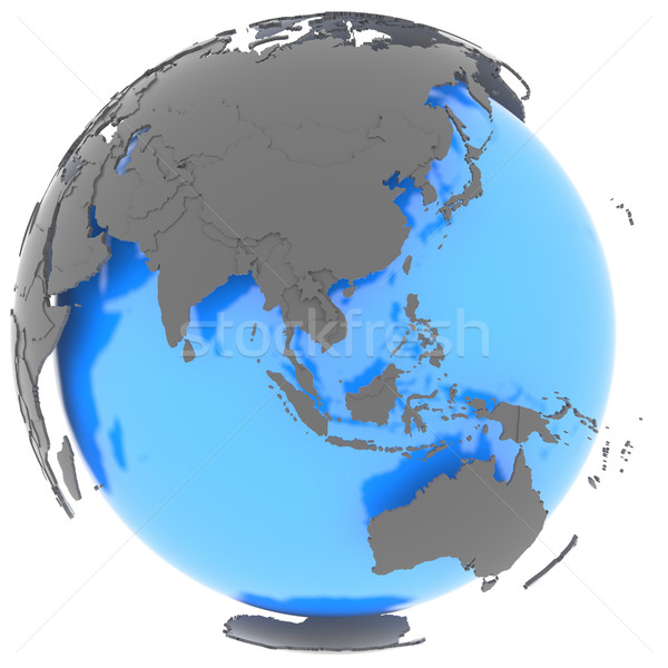 Eastern Hemisphere on the planet Stock photo © Harlekino