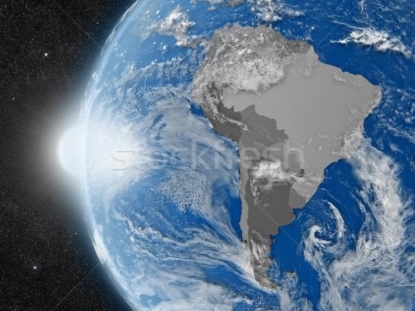 Continent ruimte aarde politiek Stockfoto © Harlekino