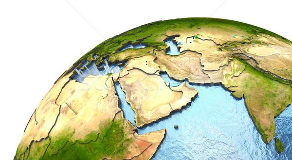 Medio Oriente terra dettagliato pianeta terra continenti Foto d'archivio © Harlekino