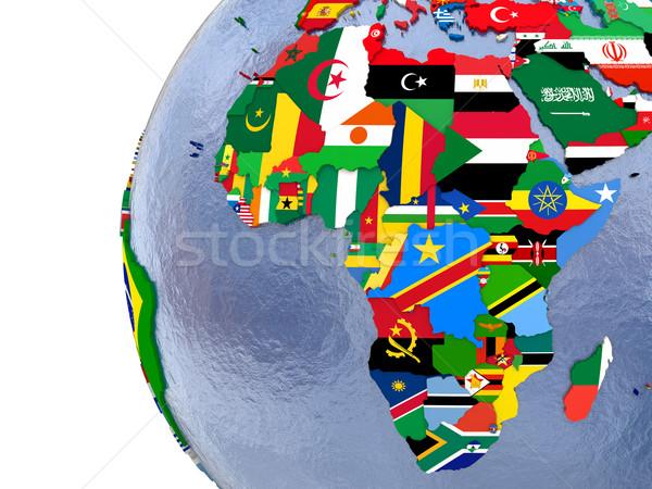 Politiek afrika kaart land model wereld Stockfoto © Harlekino