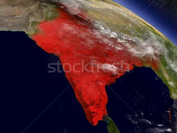 India spazio rosso illustrazione 3d Foto d'archivio © Harlekino