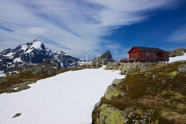 Norwegian mountain hut Stock photo © Harlekino
