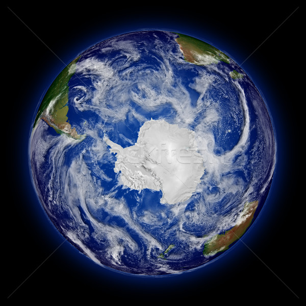 Southern hemisphere on planet Earth Stock photo © Harlekino