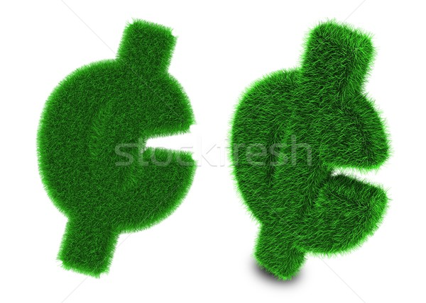 Cent sign made of grass Stock photo © Harlekino