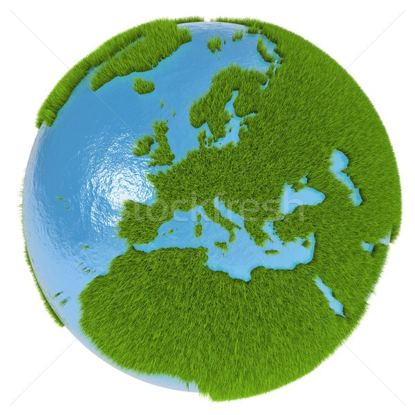 Stockfoto: Europa · groene · planeet · europese · continent · gedekt