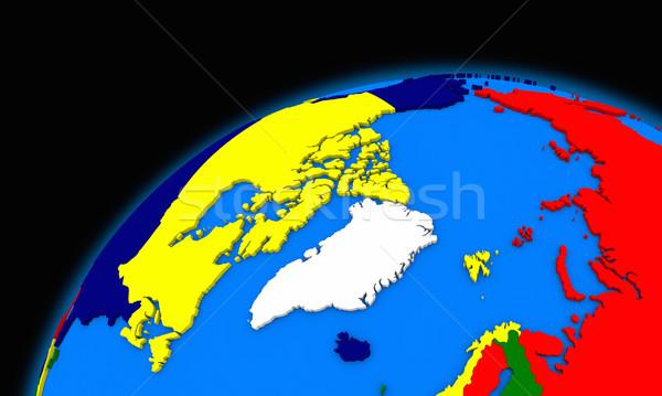 Arktik kuzey kutup bölge dünya gezegeni siyasi Stok fotoğraf © Harlekino