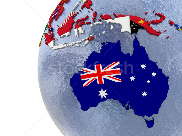 Politico Australia mappa paese modello mondo Foto d'archivio © Harlekino
