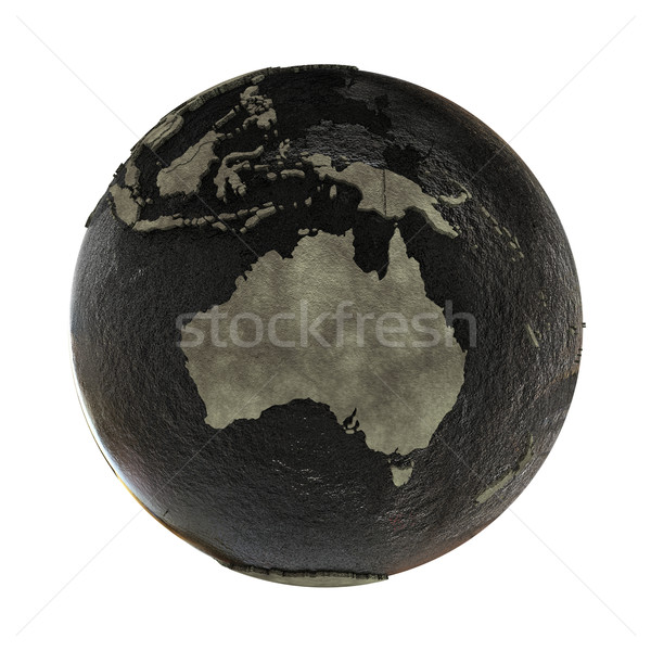 Avustralya toprak yağ 3D model dünya gezegeni Stok fotoğraf © Harlekino