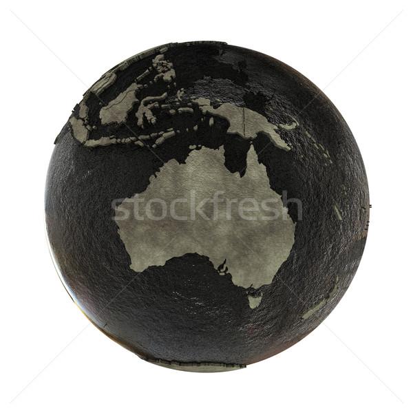 Australia on Earth of oil Stock photo © Harlekino